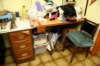 Part industrial sewing machine part desk